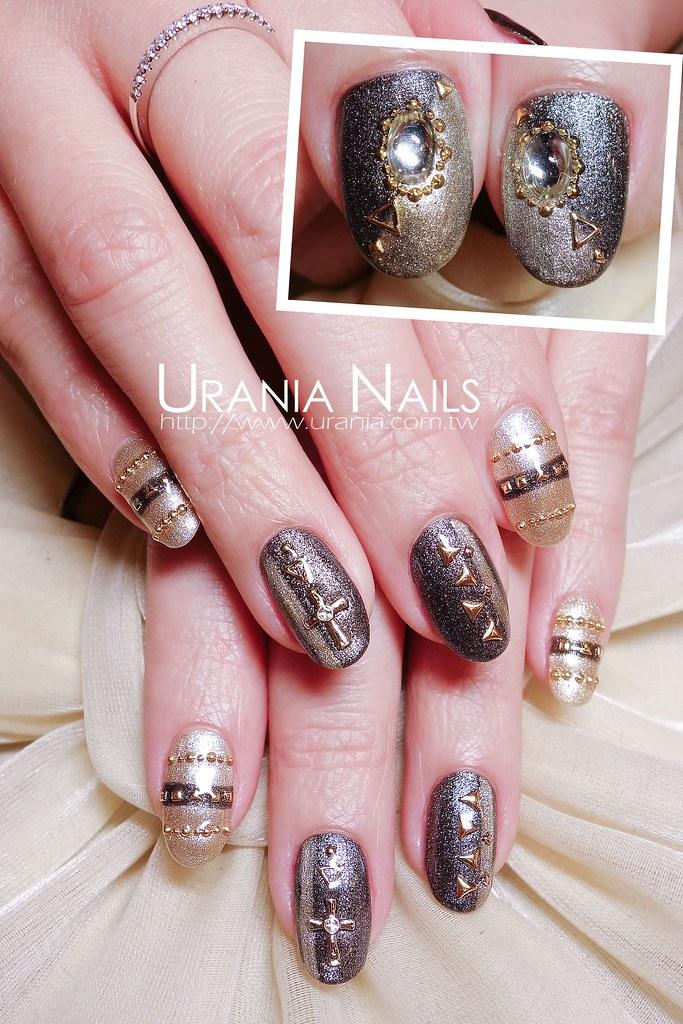 金屬色光療指甲