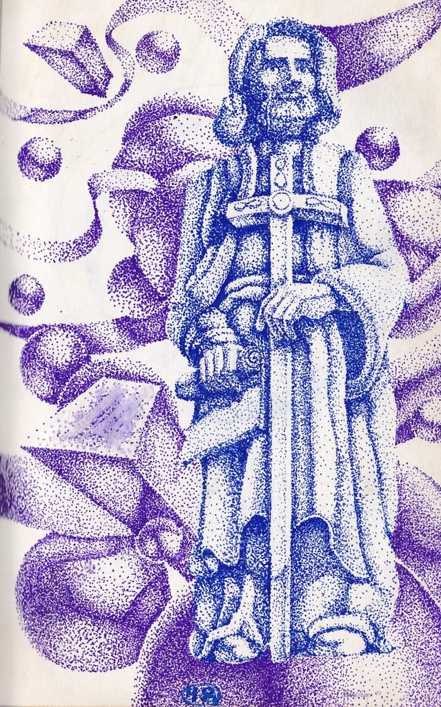 Bishop - felt tip pen on paper - 1978-1981