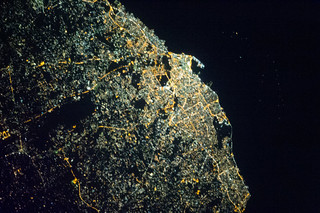 Tripoli, Libya at Night (NASA, International S...