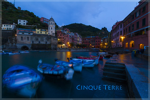 Blaue Stunde in Vernazza