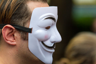 匿名者 Anonymous (Guy Fawkes Mask) / 香港聲援斯諾登遊行 Ho...