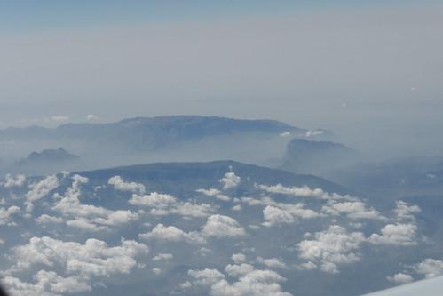 Gebirge aus der Luft