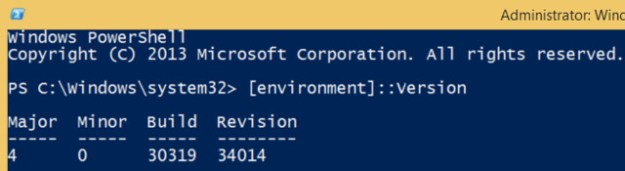 Powershell Get Installed .Net Framework Version
