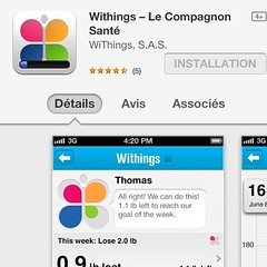 La nouvelle version du #Withings Companion est...