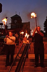 Torch carriers (Photo by John A. Simonetti)