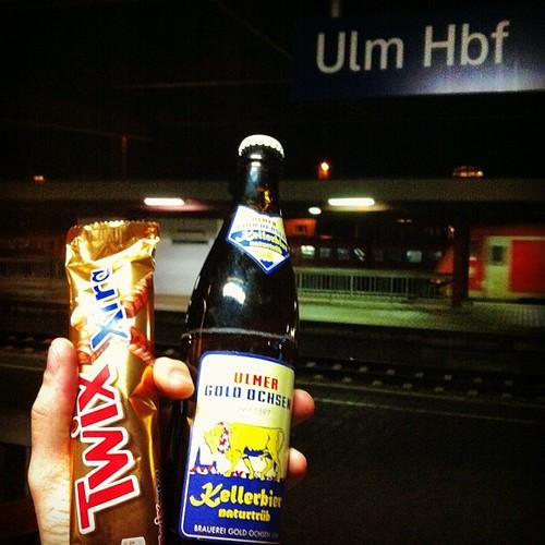 Umsteigen #Ulm Hbf mit Raiders und Kellerbier... Der Abend ist gerettet! \o/