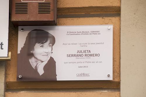 Acte placa Julieta Serrano