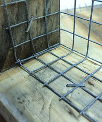 """Detail of wire mesh stapled in <a style=""""margin-left:10px; font-size:0.8em;"""" href=""""http://www.flickr.com/photos/91024182@N04/16506708262/"""" target=""""_blank"""">@flickr</a>"""