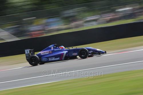 Devlin DeFrancesco  in British Formula Four during the BTCC weekend at Oulton Park, June 2016