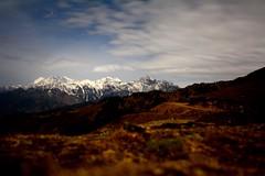 Night shot of Himalayas