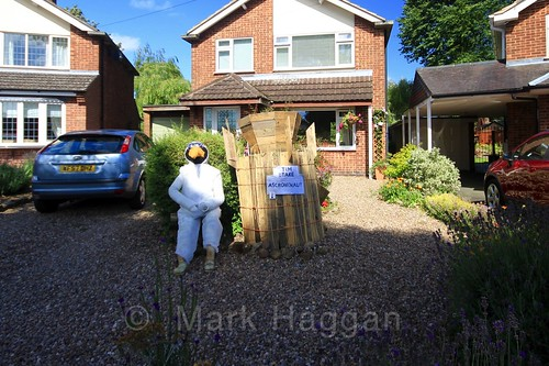 Tim Beake at the Heather Scarecrow Festival 2016