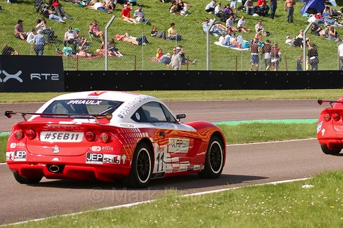 Sebastian Priaulx in Ginetta Juniors during the BTCC Thruxton Weekend: 8th May 2016