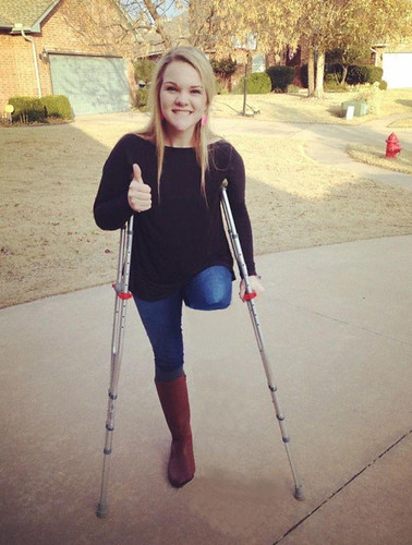 Wooden Female Amputees Crutches
