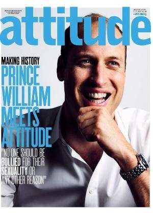 Capa de revista gay, Príncipe William levanta bandeira contra o bullying