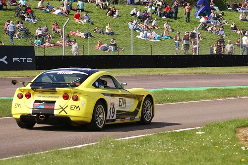 Harry King in the Ginetta Juniors Race during the BTCC Weekend at Thruxton, May 2016