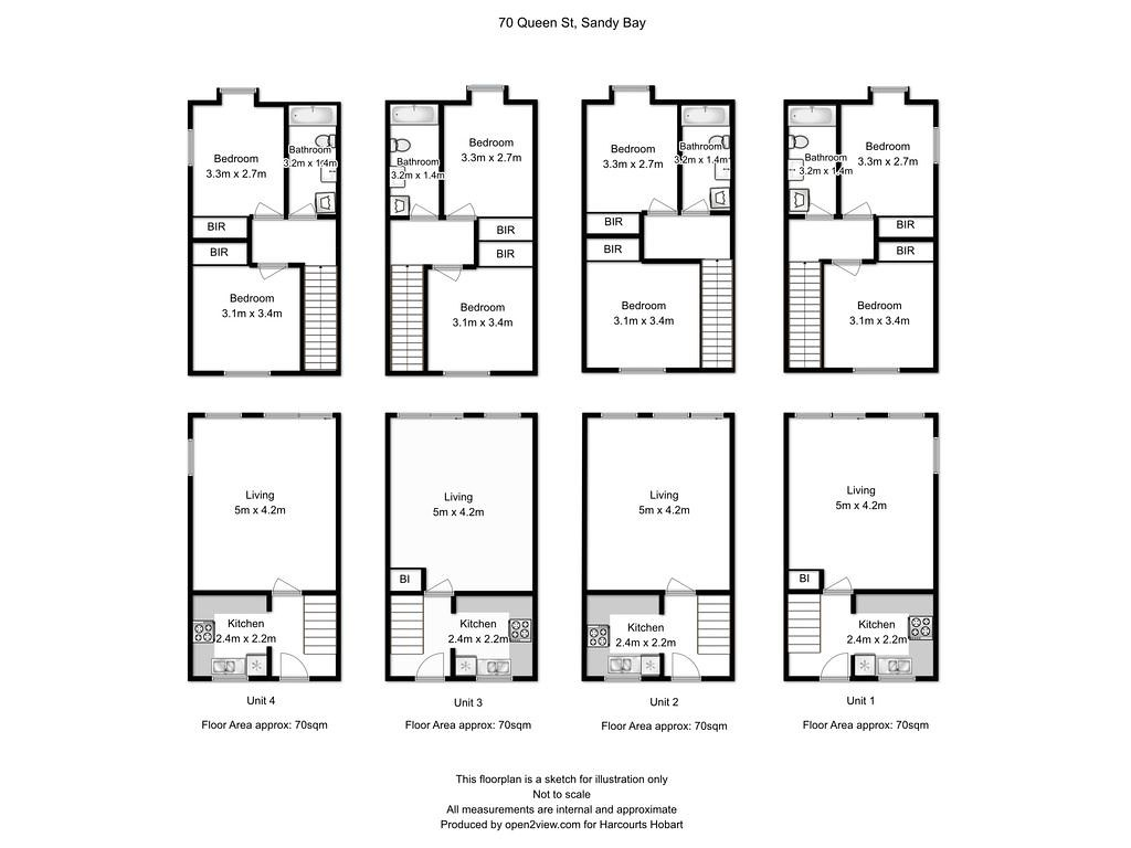 Property Floorplan Of 70 Queen Street Sandy Bay Tas