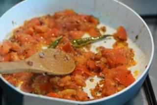 tomato rice recipe, south indian style tomato rice recipe-5