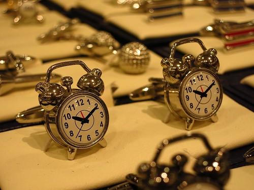 cufflinks cufflink alarmclocks (Photo: leonghong_loo on Flickr)