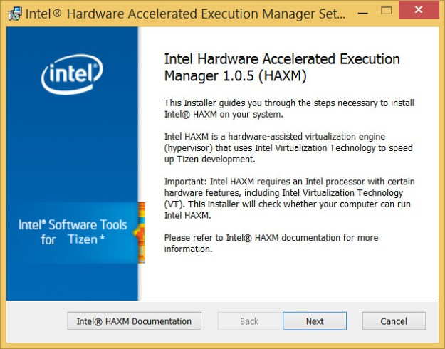 Install Intel Hardware Accelerated Execution Manager HAXM