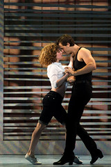 """Jillian Mueller (Baby) and Samuel Pergande (Johnny) in the Broadway Sacramento presentation of """"Dirty Dancing – The Classic Story On"""" Stage at the Sacramento Community Center Theater Dec. 26, 2014 – Jan. 4, 2015. Photo by Matthew Murphy."""