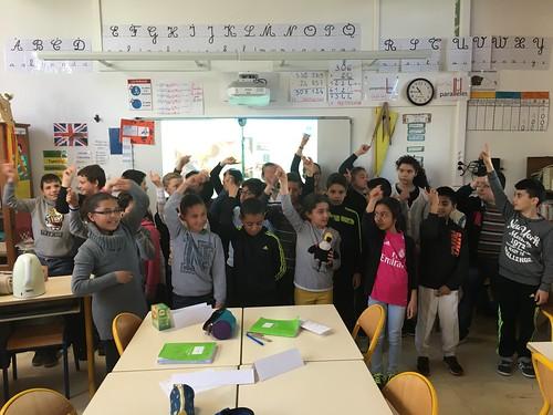 Avec les CM1 de l'école Ferdinand Buisson à Dreux !