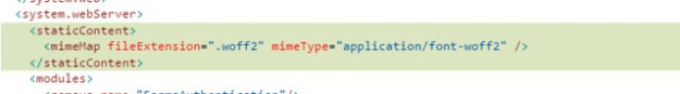 Web.config add supported MIME type
