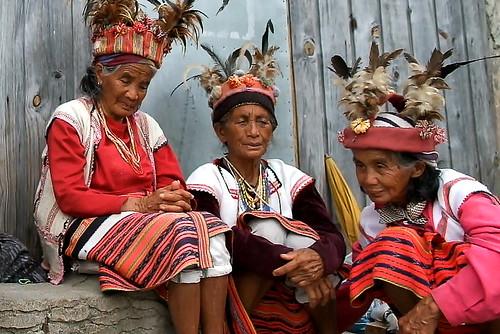 Elderly ladies. Banaue viewpoint