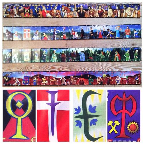 The #beauty of #Wizard #cards  #Riesen #Menschen #Elben #Zwerge  #Karten #Panorama