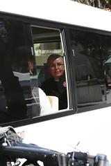 Eira Clapton being taken away