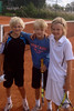 Hugo, Erik och Rasmus efter tre hårda matcher.