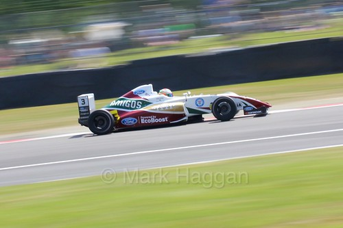 Sennan Fielding in British Formula Four during the BTCC weekend at Oulton Park, June 2016