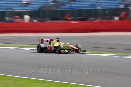 Mitch Evans in the Campos Racing car in GP2 Qualifying at the 2016 British Grand Prix