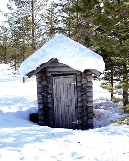 The Loo - door frozen open, don't ask!