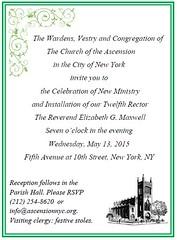 Celebrate New Ministry Invitation