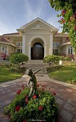Coachella - Front door with statue