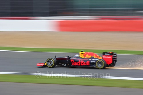 Max Verstappen in his Red Bull in qualifying at the 2016 British Grand Prix