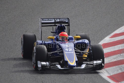 Felipe Nasr in the Sauber in Formula One Winter Testing 2015