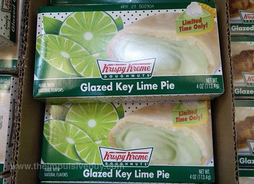 Krispy Kreme Limited Time Only Glazed Key Lime Pie