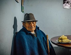 """""""Go ahead, take a picture of an old man and his plate of corn."""" #theworldwalk #travel #ecuador"""