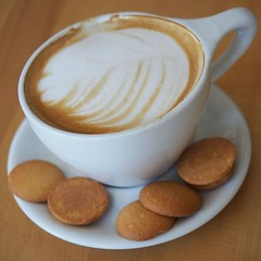 """Der Cappuccino. Die Cappuccinos / Die Capuccini. Eine Tasse Cappuccino. • <a style=""""font-size:0.8em;"""" href=""""http://www.flickr.com/photos/42554185@N00/27548175885/"""" target=""""_blank"""">View on Flickr</a>"""