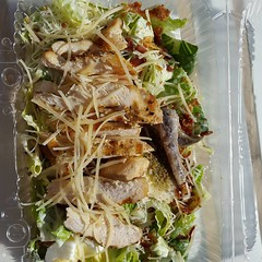 If you are staying at @spiceislandbeachresort , no need to leave the golden #sand on #grandansebeach to get #lunch. One of their lovely #servers will bring it to you! That's #AAA #5diamond service. #caesarsalad with #chicken #yummy #delicious #salad #scru