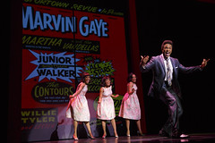 """Jarran Muse (Marvin Gaye) and the cast of the Broadway Sacramento presentation of """"Motown The Musical"""" at the Sacramento Community Center Theater May 18 – 29, 2016. Photo by Joan Marcus."""