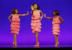 "Krisha Marcano (Florence Ballard), Allison Semmes (Diana Ross) and Trisha Jeffrey (Mary Wilson) in the Broadway Sacramento presentation of ""Motown The Musical"" at the Sacramento Community Center Theater May 18 – 29, 2016. Photo by Joan Marcus."