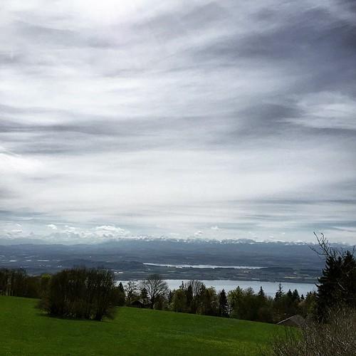 #Panorama de #Chaumont Lac de #Neuchâtel #Alpes