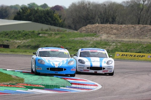 Stuart Middleton and Will Tregurtha in the Ginetta Juniors during the BTCC Thruxton Weekend: 8th May 2016