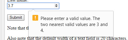 Please enter a valid value