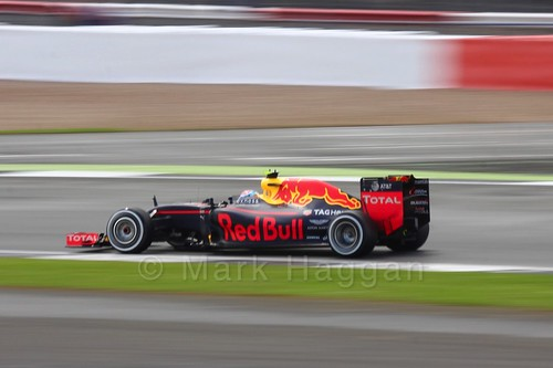 Max Verstappen in his Red Bull in the 2016 British Grand Prix
