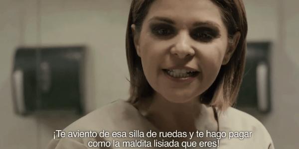"""Vilã de """"Maria do Bairro"""" revive cena clássica com cadeirante em """"OINTB"""""""