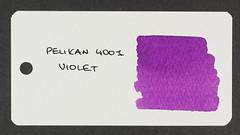 Pelikan 4001 Violet - Word Card