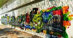 "Die Mauer. Die Mauern. Graffiti an der Mauer. Graffitis an den Mauern. • <a style=""font-size:0.8em;"" href=""http://www.flickr.com/photos/42554185@N00/26740354490/"" target=""_blank"">View on Flickr</a>"